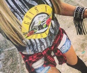 fashion, Guns N Roses, and outfit image