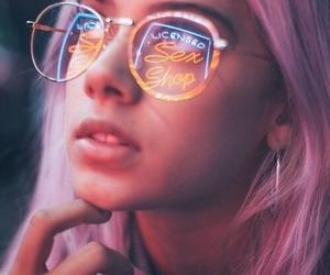 girl, light, and neon image