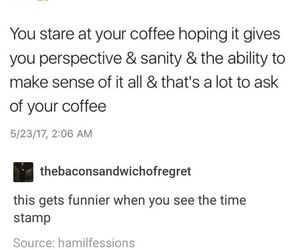 coffee, funny, and night image