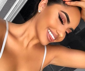 makeup, white teeth, and pretty image
