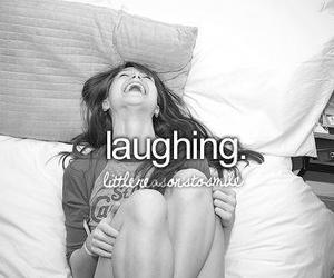 girl, laughing, and laugh image