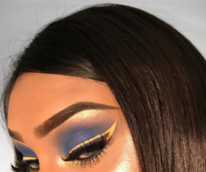 inspiration, makeup, and yellow image