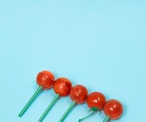 lollipop, tomato, and pastel image
