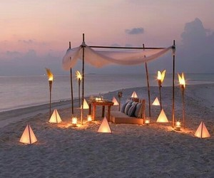 beach, romantic, and light image