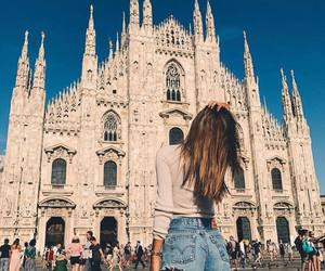 travel, girl, and milan image