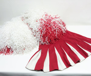 red, aesthetic, and cheerleader image