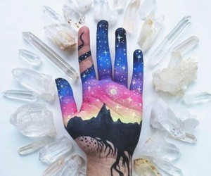 hand, paint, and pretty image