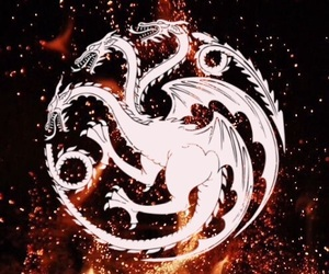 dark, dragons, and fire image