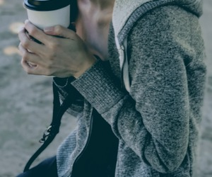 coffee, girl, and moody image