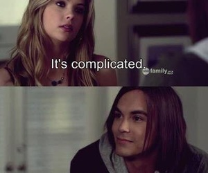 pretty little liars, pll, and complicated image