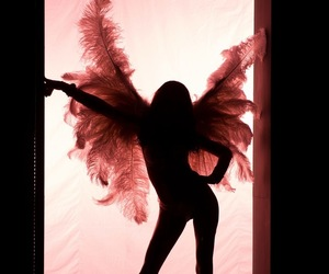 angel, model, and pink image