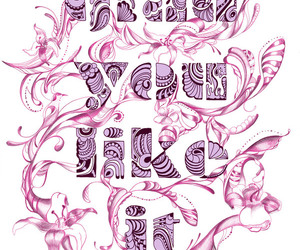 pink and typography image