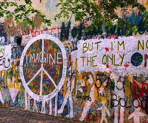 imagine, peace, and john lennon image