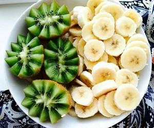 banana, fruit, and kiwi image