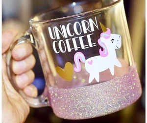 unicorn, cup, and glitter image