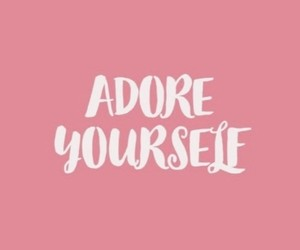 pink, quotes, and adore image