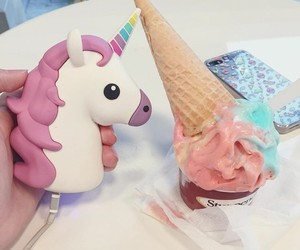 blue, ice cream, and pink image