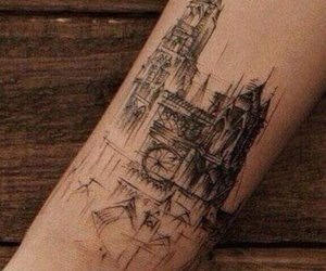 architecture, symmetric, and tattoo image