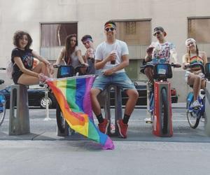 bicycle, bike, and gay image