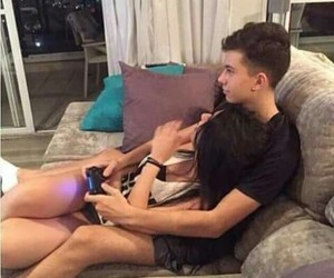 couple, lovers, and gamers image