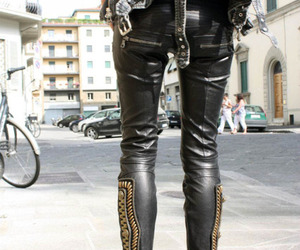 fashion, leather, and style image