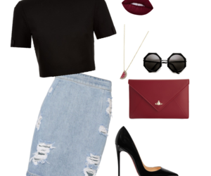 outfit, Polyvore, and oficce image