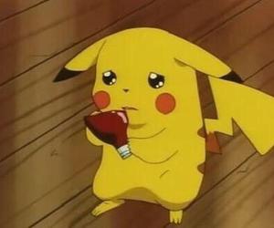 cartoon, cute, and pikachu image