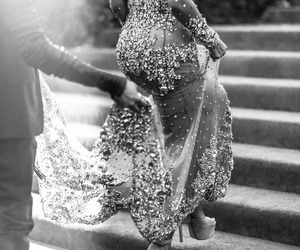 beyoncé, black and white, and dress image