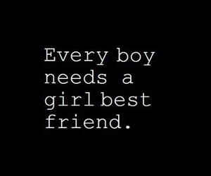 boy, girl, and best friends image