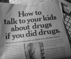 drugs, black and white, and kids image