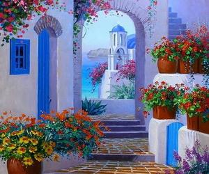 Greece, santorini, and beautiful image