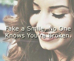 broken, smile, and demi lovato image