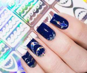 blue, gorgeous, and nails image