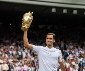 wimbledon, roger federer, and victory image