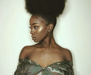 Afro, beauty, and makeup image