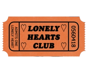 pink, lonely hearts club, and ticket image