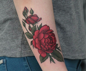 arm, ink, and red image