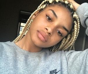 braids, melanin, and girls image
