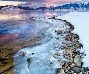 ice, mountains, and nature image