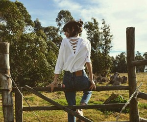 countryside, levis, and nature image