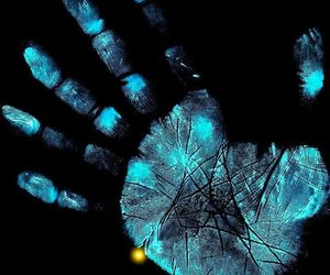 blue and hand image