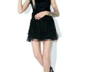 black, gothic, and dress image