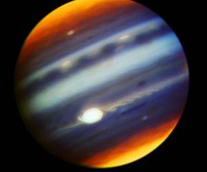 celestial, jupiter, and nasa image