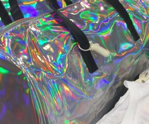 bags, forever 21, and hologram image