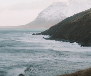 calm, waves, and landscape image