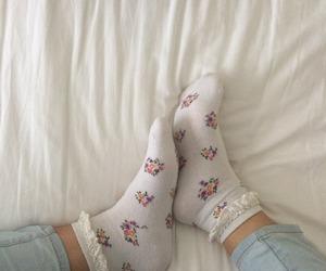 socks, white, and alternative image