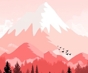 mountains, pink, and background image