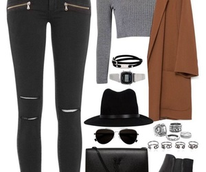 accesories, black, and coat image