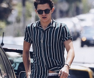 tom holland, spiderman, and Calvin Klein image