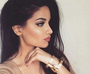 girl, highlights, and makeup image